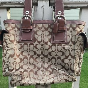 Coach Brown Leather Large Tote Bag